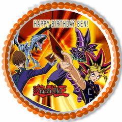 YU GI OH - Edible Cake Topper OR Cupcake Topper, Decor