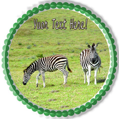 Zebra - Edible Cake Topper, Cupcake Toppers, Strips