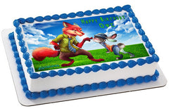 Zootopia 2 Edible Birthday Cake Topper OR Cupcake Topper, Decor - Edible Prints On Cake (Edible Cake &Cupcake Topper)