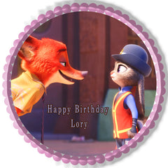 Zootopia 5 Edible Birthday Cake Topper OR Cupcake Topper, Decor