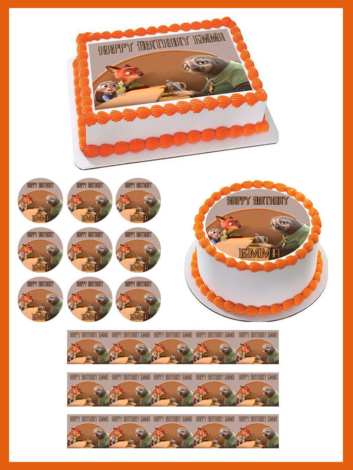 Edible Image Toppers Reviews : Zootopia 3 Edible Cake Topper   Edible Prints On Cake (EPoC)