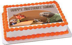 Zootopia 3 Edible Birthday Cake Topper OR Cupcake Topper, Decor - Edible Prints On Cake (Edible Cake &Cupcake Topper)