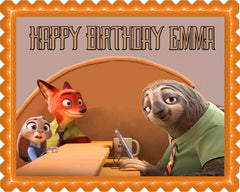 Zootopia 3 Edible Birthday Cake Topper OR Cupcake Topper, Decor