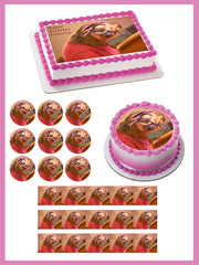 Zootopia 4 Priscilla Sloth Edible Birthday Cake Topper OR Cupcake Topper, Decor