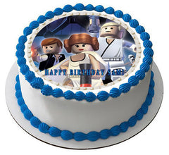Lego Star Wars 7 Edible Birthday Cake Topper OR Cupcake Topper, Decor - Edible Prints On Cake (Edible Cake &Cupcake Topper)