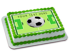SOCCER BALL - Edible Cake Topper, Cupcake Toppers, Strips