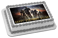Halo Reach 1 Edible Birthday Cake Topper OR Cupcake Topper, Decor - Edible Prints On Cake (Edible Cake &Cupcake Topper)
