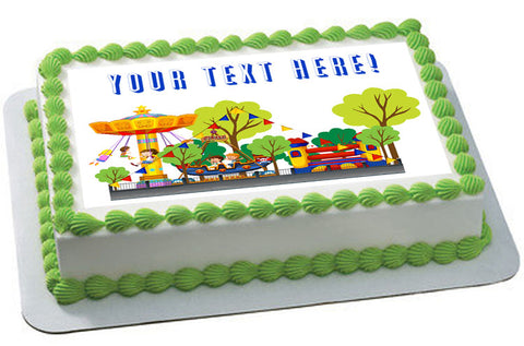Kids Carnival - Edible Cake Topper, Cupcake Toppers, Strips