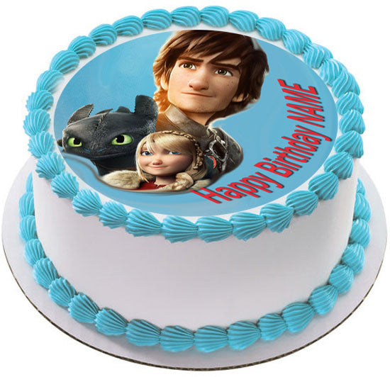 How To Train Your Dragon Birthday Cake Topper