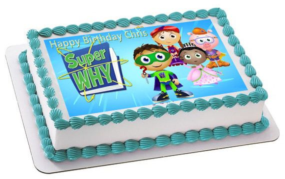 Super Why 3 Edible Birthday Cake Or Cupcake Topper Edible