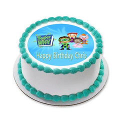 SUPER WHY 3 Edible Birthday Cake Topper OR Cupcake Topper, Decor - Edible Prints On Cake (Edible Cake &Cupcake Topper)