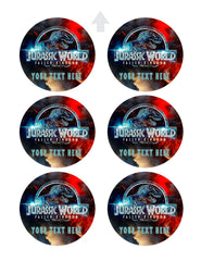 Jurassic World The Fallen Kingdom - Edible Cake Topper, Cupcake Toppers, Strips