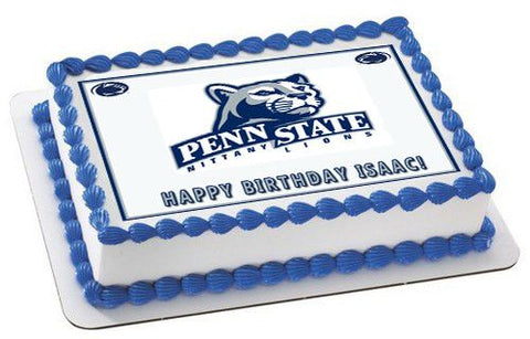 Penn State Nittany Lions - Edible Cake Topper OR Cupcake Topper, Decor
