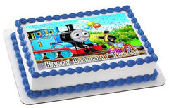 Thomas Train 1 Edible Birthday Cake Topper OR Cupcake Topper, Decor - Edible Prints On Cake (Edible Cake &Cupcake Topper)