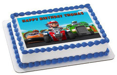 Paw Patrol Wiki Edible Birthday Cake Topper OR Cupcake Topper, Decor - Edible Prints On Cake (Edible Cake &Cupcake Topper)