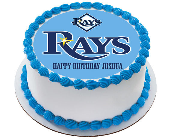 Tampa Bay Devil Rays Edible Birthday Cake Topper OR Cupcake Decor