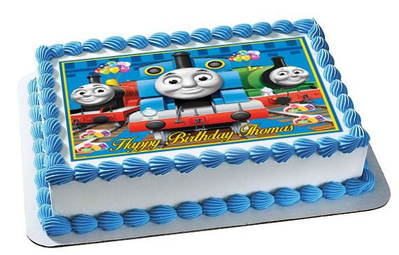 Surprising Thomas Train Nr2 Edible Cake Topper Or Cupcake Topper Decor Personalised Birthday Cards Sponlily Jamesorg