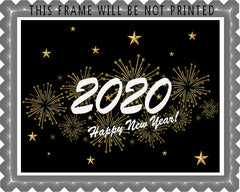 New Year (Nr3) - Edible Cake Topper, Cupcake Toppers, Strips