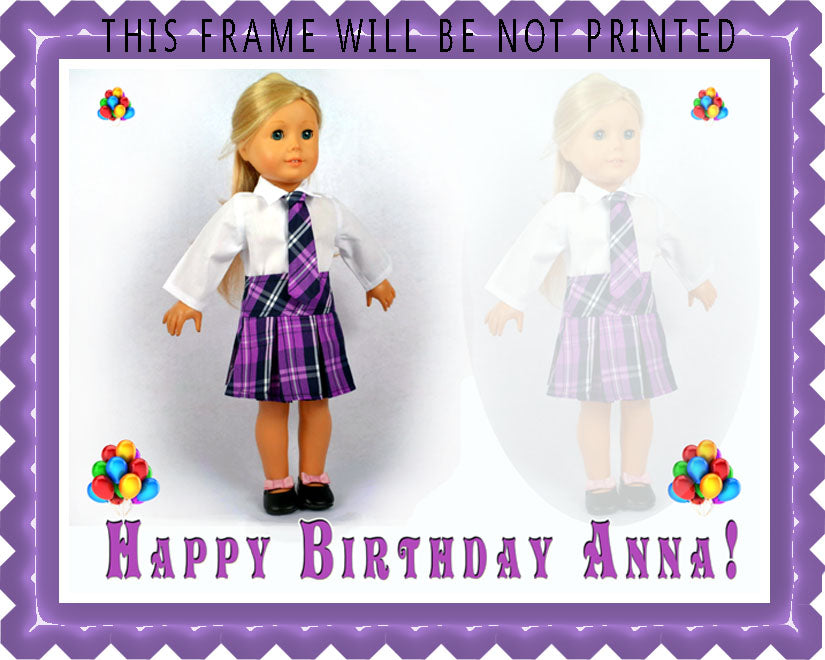 American Girl (Nr2) - Edible Cake Topper, Cupcake Toppers, Strips