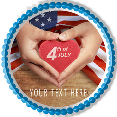 4th of July (Nr5) - Edible Cake Topper, Cupcake Toppers, Strips