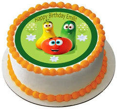 VEGGIE TALES Characters 5 Edible Birthday Cake Topper OR Cupcake Topper, Decor