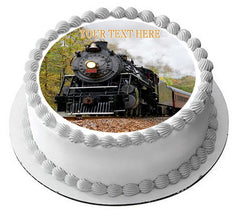 Train (Nr1) - Edible Cake Topper, Cupcake Toppers, Strips