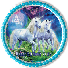 Unicorn - Edible Cake Topper, Cupcake Toppers, Strips