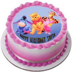 Winnie Pooh 2 Edible Birthday Cake Topper OR Cupcake Topper, Decor