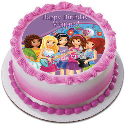 Lego Friends Edible Birthday Cake Or Cupcake Topper