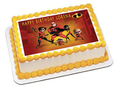 INCREDIBLES 1 Edible Birthday Cake Topper OR Cupcake Topper, Decor - Edible Prints On Cake (Edible Cake &Cupcake Topper)