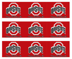 Ohio State Buckeyes - Edible Cake Topper OR Cupcake Topper, Decor