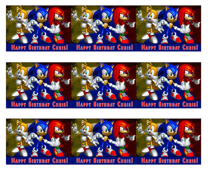 Sonic Edible Cake Topper Or Cupcake Topper Edible Prints On Cake Epoc