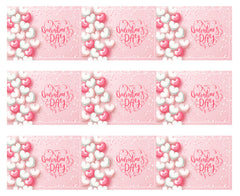 Valentine`s Day - Edible Cake Topper, Cupcake Toppers, Strips