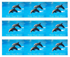 Dolphin Jumping - Edible Cake Topper, Cupcake Toppers, Strips
