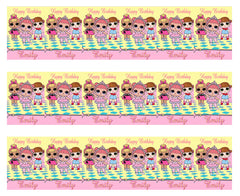 Lol Suprise Dolls (Nr1) - Edible Cake Topper, Cupcake Toppers, Strips