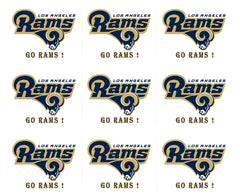 Los Angeles Rams - Edible Cake Topper, Cupcake Toppers, Strips
