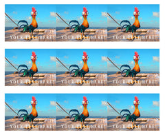 Moana hei hei chicken - Edible Cake Topper, Cupcake Toppers, Strips