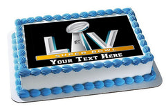 Super Bowl 2020 - Edible Cake Topper, Cupcake Toppers, Strips