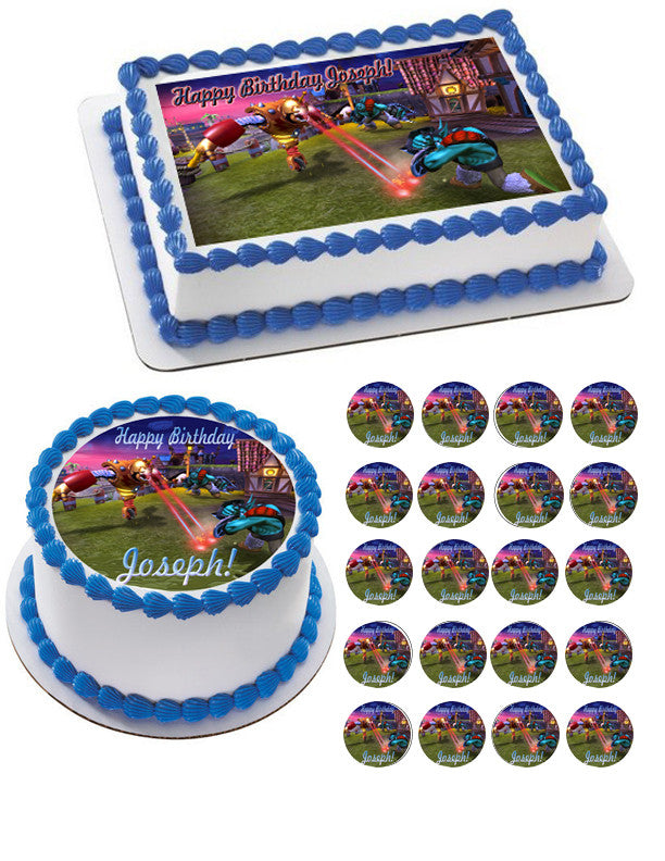 Skylander Giants 2 Edible Birthday Cake ORCupcakeTopper ...