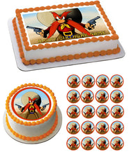 YOSEMITE SAM Edible Birthday Cake Topper OR Cupcake Topper, Decor