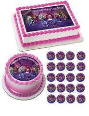 MONSTER HIGH Edible Birthday Cake Topper OR Cupcake Topper, Decor - Edible Prints On Cake (Edible Cake &Cupcake Topper)