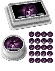 MINECRAFT Enderman Edible Birthday Cake Topper OR Cupcake Topper, Decor - Edible Prints On Cake (Edible Cake &Cupcake Topper)