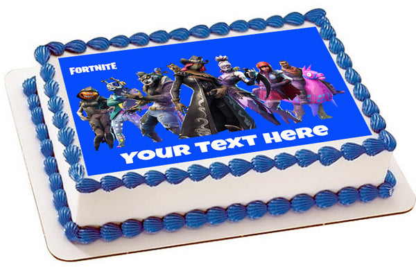Fortnite - Edible Cake Topper or Cupcake Toppers – Edible ...