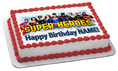 Superheroes 2 Edible Birthday Cake Topper, Decor - Edible Prints On Cake (Edible Cake &Cupcake Topper)