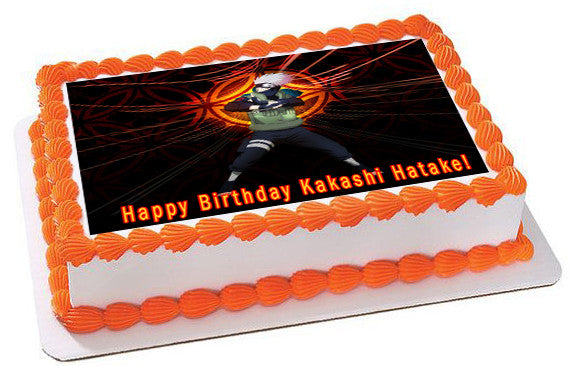 NARUTO 1 Edible Birthday Cake Topper OR Cupcake Topper, Decor - Edible Prints On Cake (Edible Cake &Cupcake Topper)