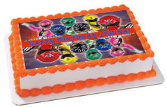 Power Rangers Super Megaforce (Mirror Picture) Edible Birthday Cake Topper OR Cupcake Topper, Decor - Edible Prints On Cake (Edible Cake &Cupcake Topper)