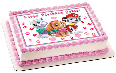 Paw Patrol Girls - Edible Cake Topper OR Cupcake Topper, Decor