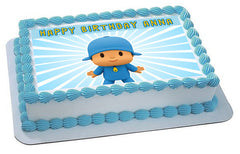 Pocoyo 2 Edible Birthday Cake Topper OR Cupcake Topper, Decor - Edible Prints On Cake (Edible Cake &Cupcake Topper)