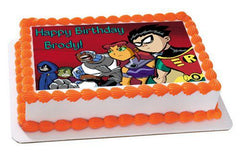 Teen Titans Go 2 Edible Birthday Cake Topper OR Cupcake Topper, Decor - Edible Prints On Cake (Edible Cake &Cupcake Topper)
