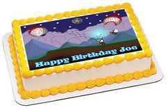 Terraria 3 Edible Birthday Cake Topper OR Cupcake Topper, Decor - Edible Prints On Cake (Edible Cake &Cupcake Topper)